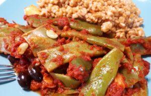 Taccole in umido con olive taggiasche