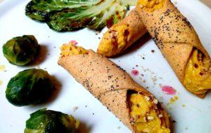 Cannoli salati con mousse di zucca