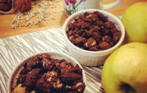 Crumble al cioccolato e grano saraceno