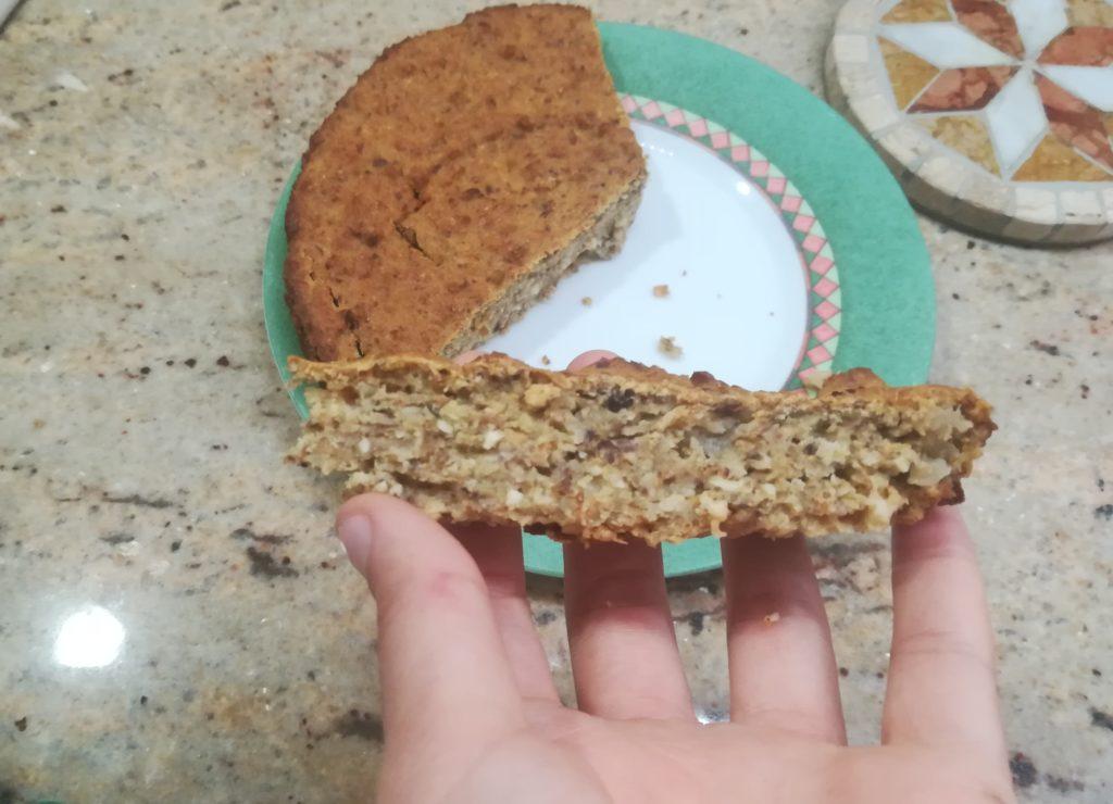 Torta di pere e nocciole senza zucchero